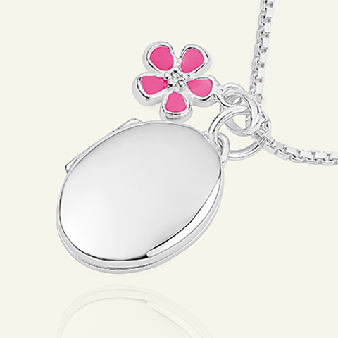 Flower Girl Oval Locket - The Locket Tree