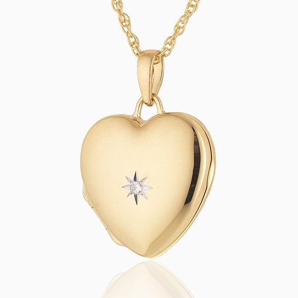 Product title: Gold and Diamond Locket, product type: Locket
