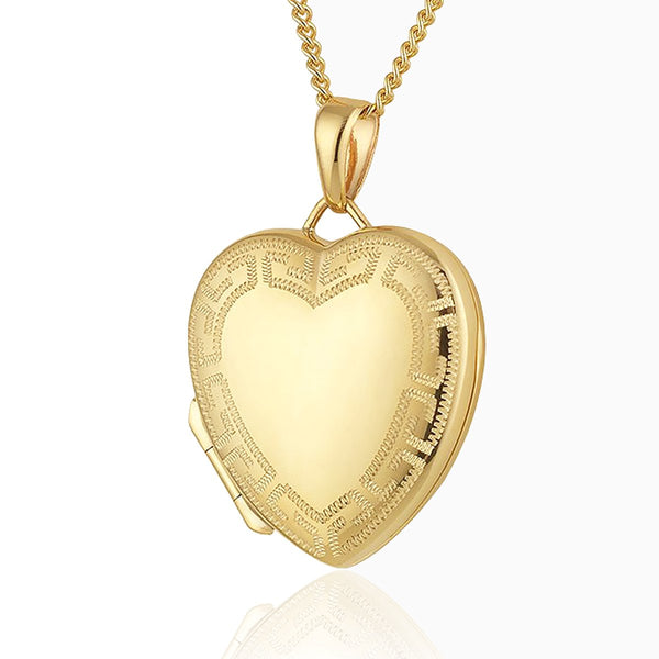 Product title: Gold Grecian Border Locket 21 mm, product type: Locket