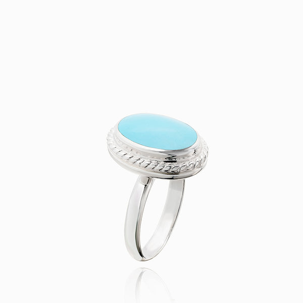 Product title: Turquoise Locket Ring, product type: Ring