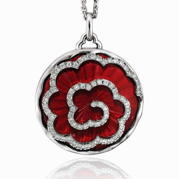 Product title: Red Rose Guilloche Locket, product type: Locket