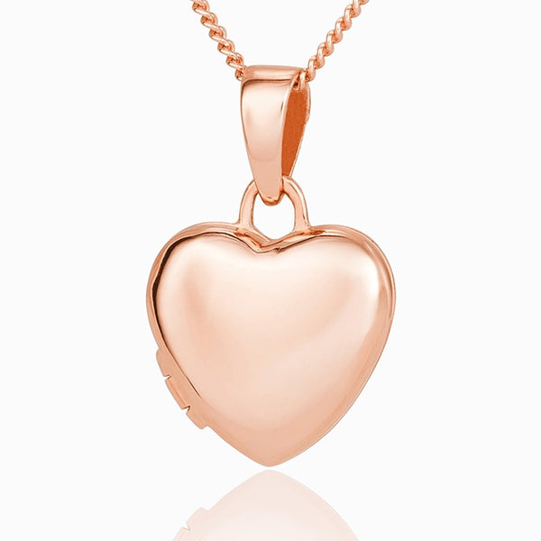 Product title: Tiny Rose Gold Heart, product type: Locket