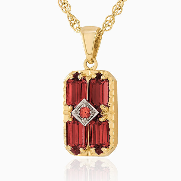 Product title: Dainty Garnet Locket, product type: Locket