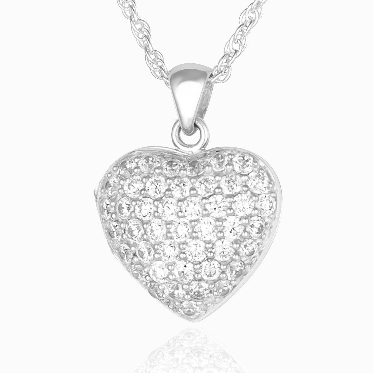 Dainty Dazzle Heart Locket