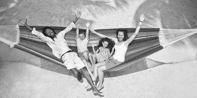 Family on Giganta lava hammock