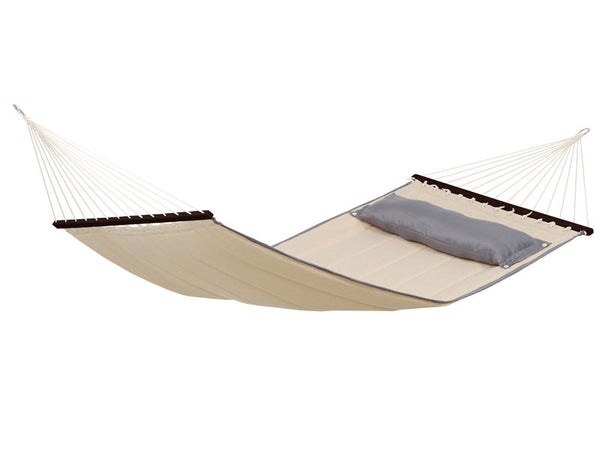 Empty American Dream Sand hammock with darker pillow