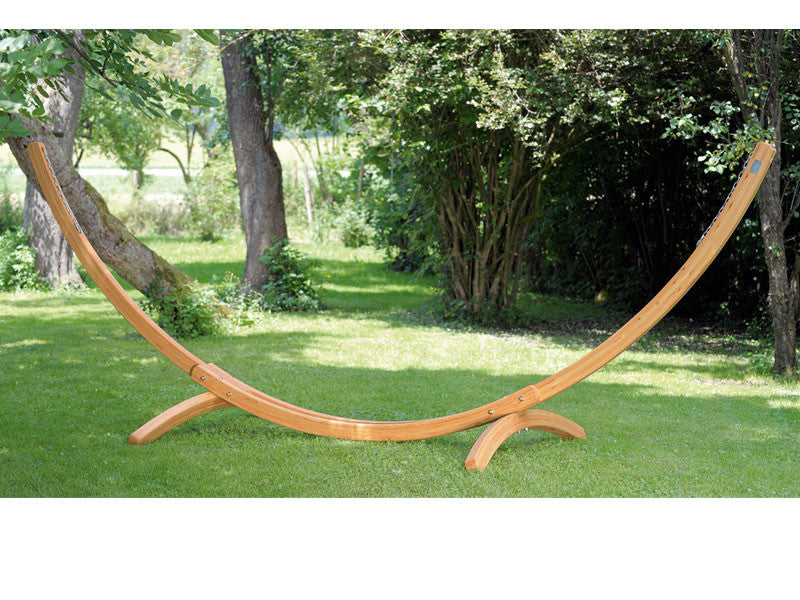 Medium image of large arcus hammock stand frame in garden