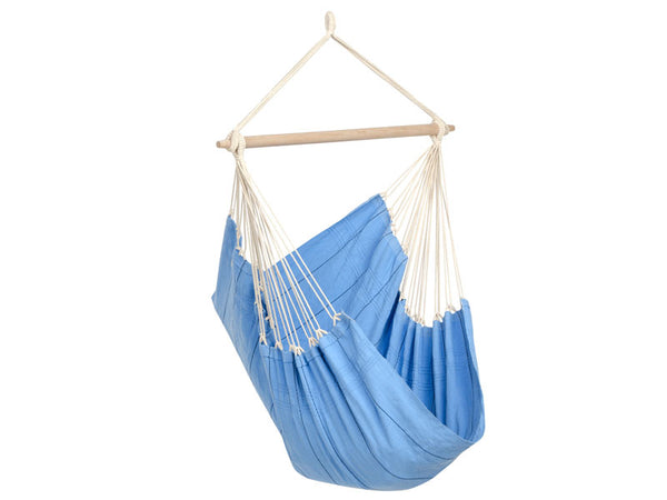 Empty Artista Blue Hammock Chair