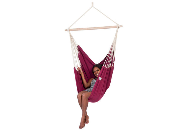Girl sitting in Artista Vino Hammock Chair