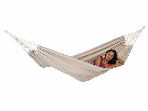 Girl lying in Arte Sand Hammock