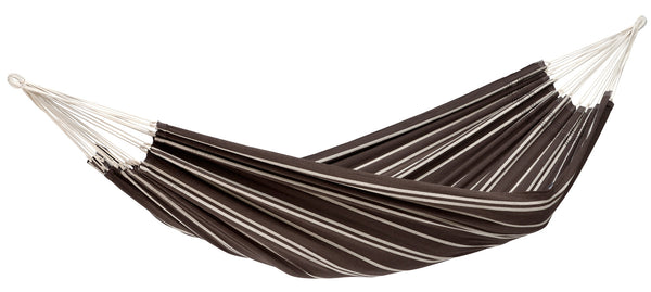 Empty brown with thin light stripe Mocca Barbados hammock