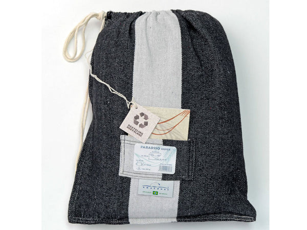 Cotton packaging bag for silver Paradiso hammock.