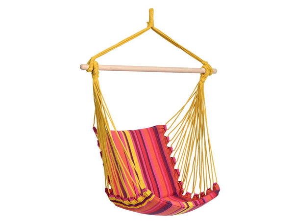Empty Belize Vulcano Hammock Chair with white background.