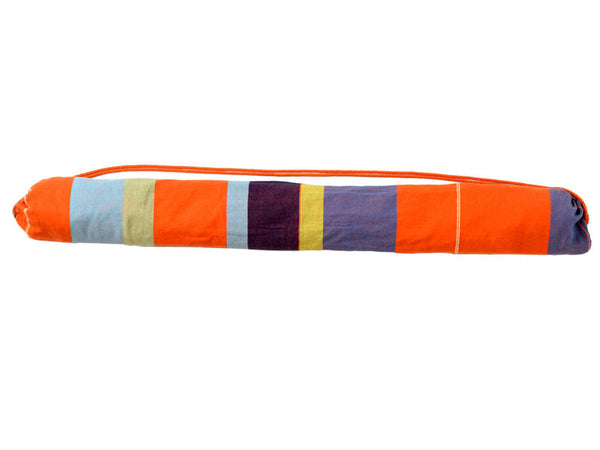 Packaged Bogota Mandarina Hammock Chair showing stripes.