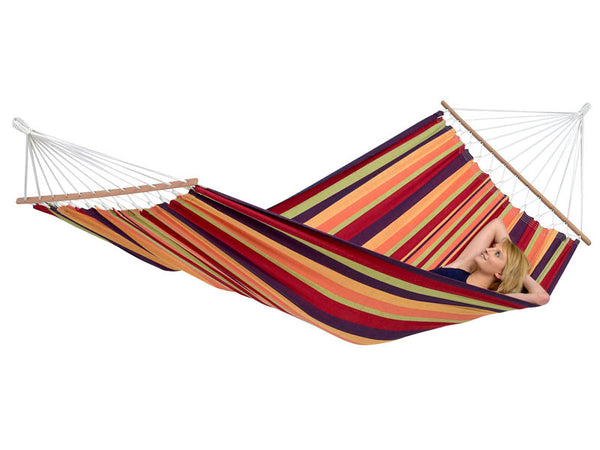 Woman lying in Brasilia Tropical hammock