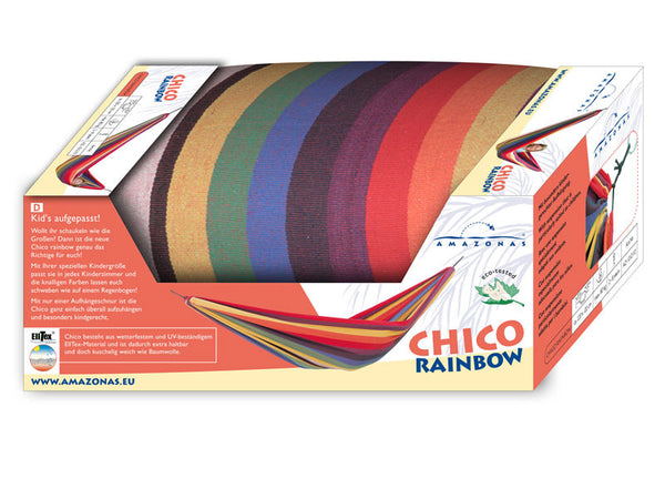 Packaging for Chico Rainbow Hammock.