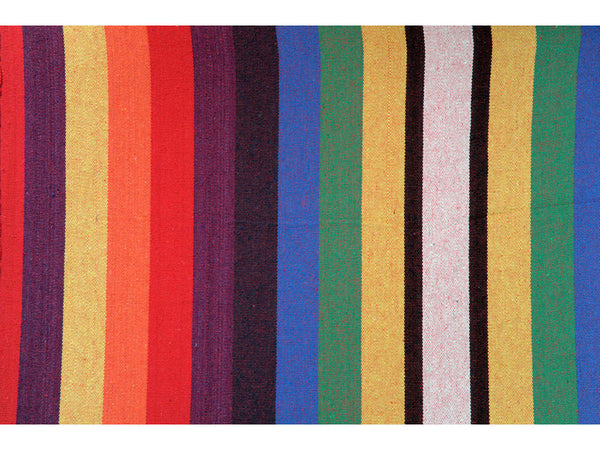 Swatch showing colours of stripes of Chico Rainbow Hammock.