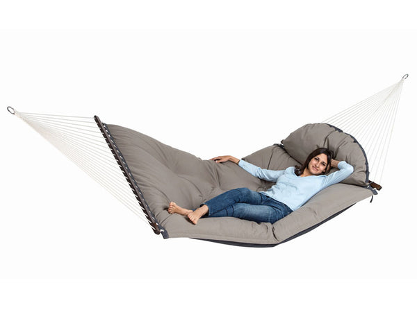 Girl lying on Fat Hammock
