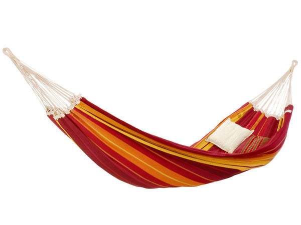 Empty red orange striped Gigante Lava hammock