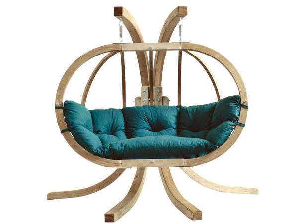 Green Globo Royal Double Wooden Hanging Chair