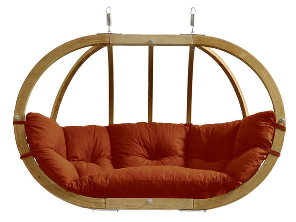 Terracotta Globo Royal Double Wooden Hanging Chair