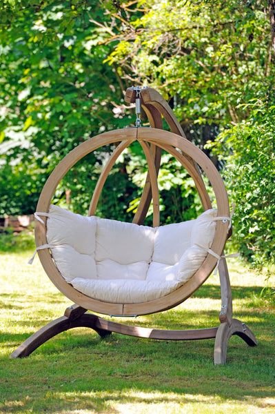 Globo Single Natura Wooden Swing Chair Set