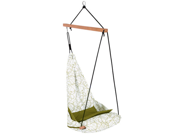 Empty Peppermint Hang Solo Hammock Chair with white background.