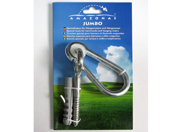 Jumbo Carabiner Hammock Fixing in packaging.
