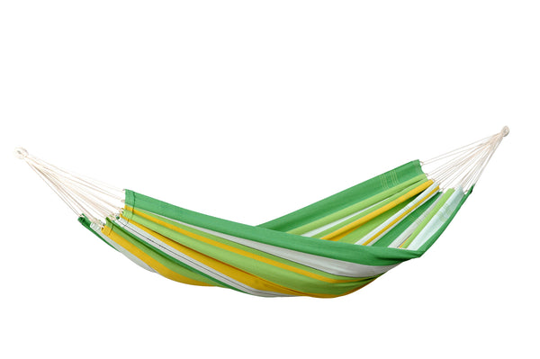 Empty striped green yellow white striped Apple Lambada hammock