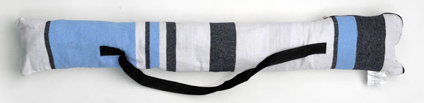Packaging for blues and white striped Samba Marine hammock with spreader bar