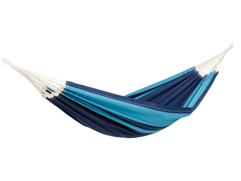 Empty striped Blue Santana hammock