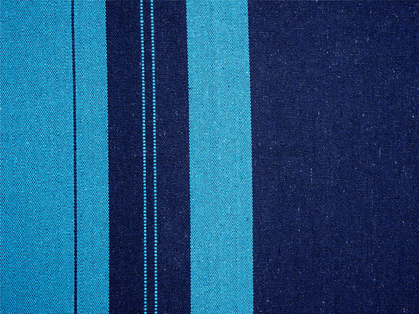 Swatch for striped Blue Santana hammock.