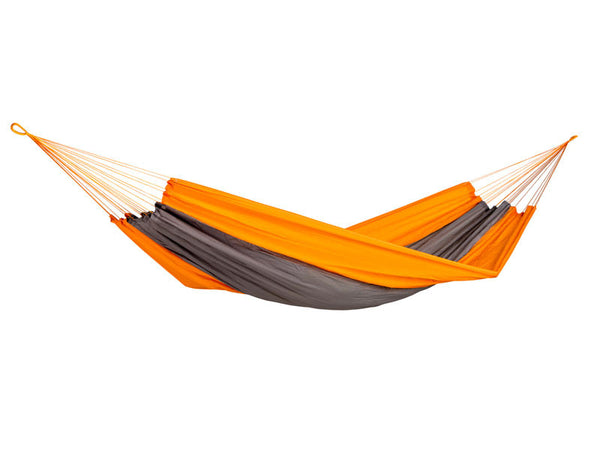 Empty Silk Traveller Hammock Techno Orange Grey.