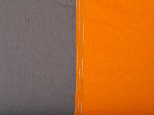 Swatch for Silk Traveller Hammock Techno Orange Grey.
