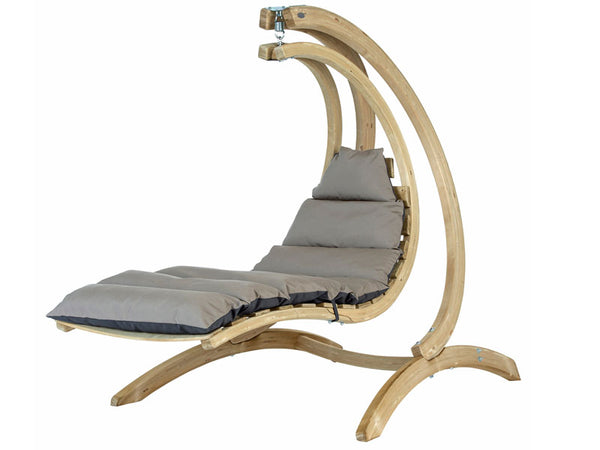 Wooden Swing Lounger Set Anthracite