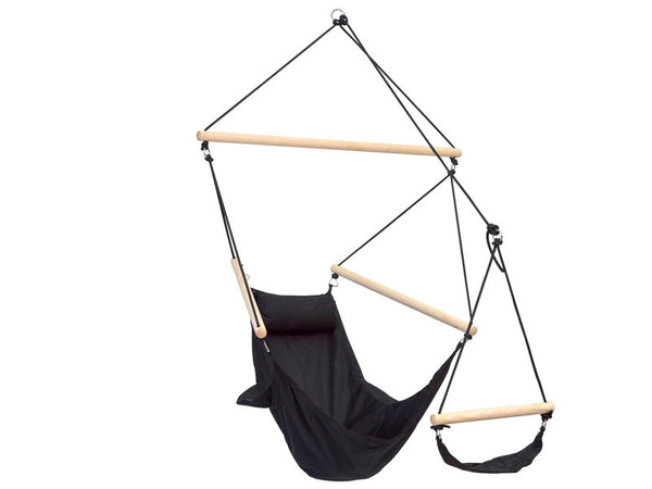 Empty black Swinger Hammock Chair.