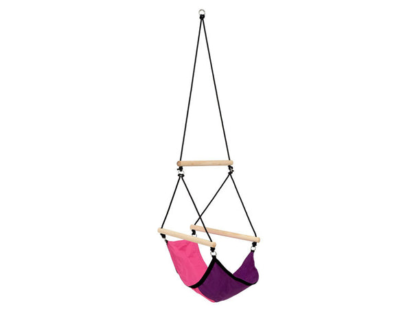 Empty Kid's Swinger Pink Child's Hanging Chair.