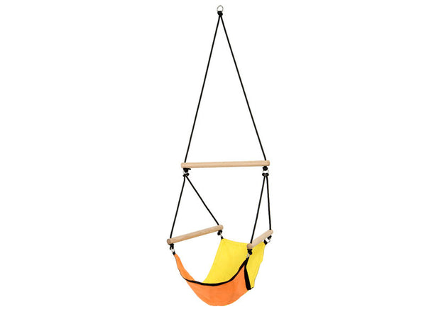 Empty Kid's Swinger Yellow Child's Hanging Chair.