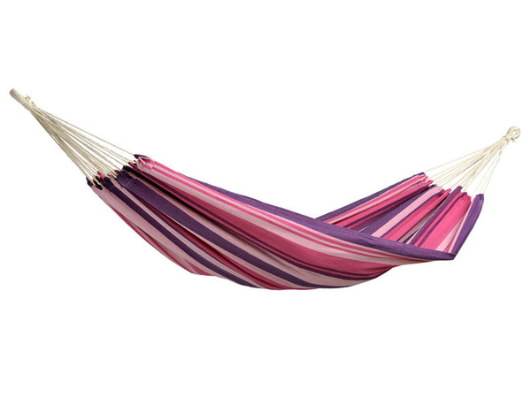 Empty purples striped Tahiti Candy hammock