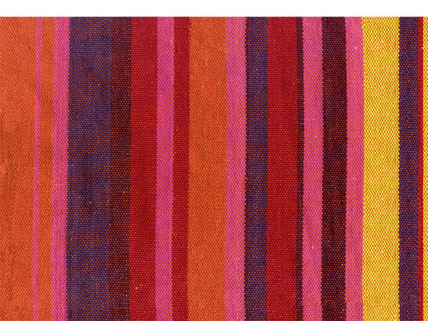 Swatch of vulcano colour stripes Relax hanging chair.
