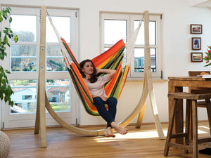 Amazonas Brasil Gigante Hanging Chair with Taurus Stand Set (in 3 colours)