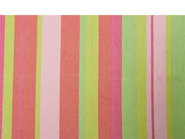 Colour swatch for pinks and greens striped Tonga Bubblegum hammock with spreader bar