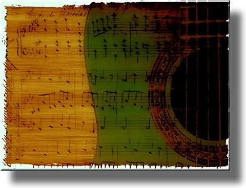 Musical Notes Picture on Stretched Canvas, Wall Art Décor, Ready to Hang!
