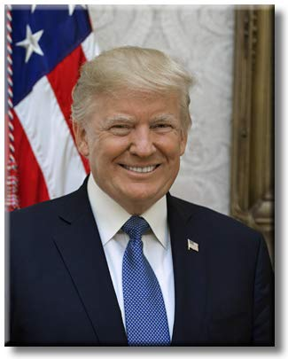Smiling Donald Trump, Picture on Stretched Canvas, Wall Art Decor, Ready to Hang