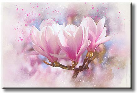 Tree Blossom Flowers Picture on Stretched Canvas, Wall Art Décor, Ready to Hang