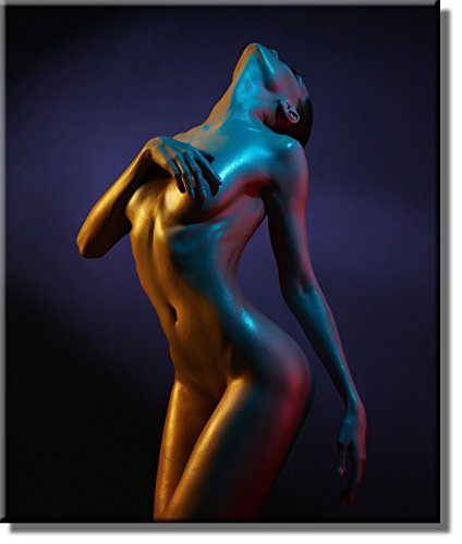 Woman Nude Body Picture on Stretched Canvas, Wall Art Décor, Ready to Hang