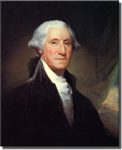 George Washington Portrait by Gilbert Stuart, Wall Picture Art on Stretched Canvas, Ready to Hang!