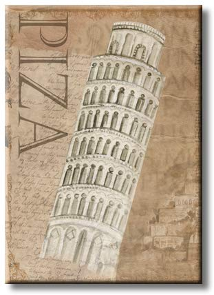Leaning Tower of Pisa, Picture on Streched Canvas, Wall Art Decor, Ready to Hang
