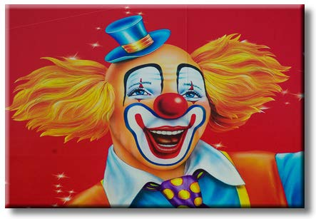 Children's Favorite Clown Lovely Picture on Stretched Canvas, Wall Art Décor, Ready to Hang