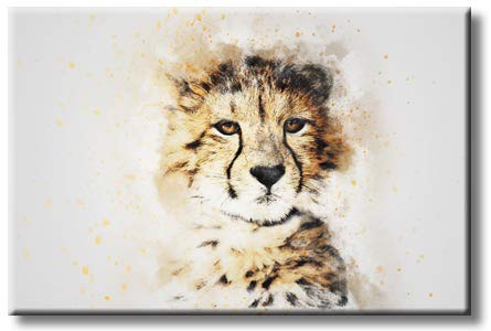 Cheetah Art Picture on Stretched Canvas, Wall Art Décor, Ready to Hang